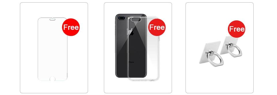 Apple iphone 8 Plus 3GB RAM 64-256GB ROM Hexa Core Unlocked iOS 5.5 inch 12MP Fingerprint 2691mAh LTE Mobile Phone