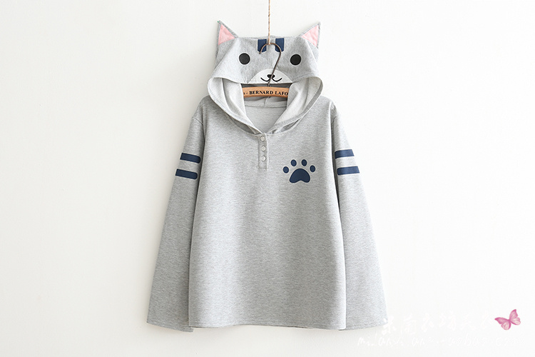 LoveLove Cat Lover Hoodie Coat Mori Girl Hoodie 2 Colors