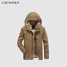 CARANFIER 2017 hombres invierno lana gruesa Chaqueta de algodón abrigo  militar táctica moda Casual negocios prendas 01e6f8c24d0b