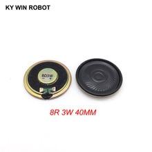 2pcs/lot New Ultra-thin Mini speaker 8 ohms 3 watt 3W 8R Diameter 40MM 4CM thickness 5.5MM