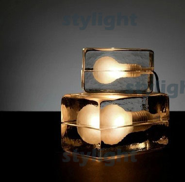 design house block table lamp ice table lighting modern design crystal desk lights bedroom living room sitting room dinning room innovation and unique ice block desk table lamp creative small ice lamp g9 220v free shipping