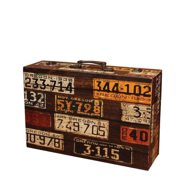 Vintage Laggage Home Storage Boxes Wooden Window Display Suitcase  Photography Props Window Display Storage Box Luggage