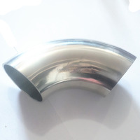 OD 63mm 2 5 Sanitary Weld Elbow Pipe Fitting 90 Degree Stainless Steel 304