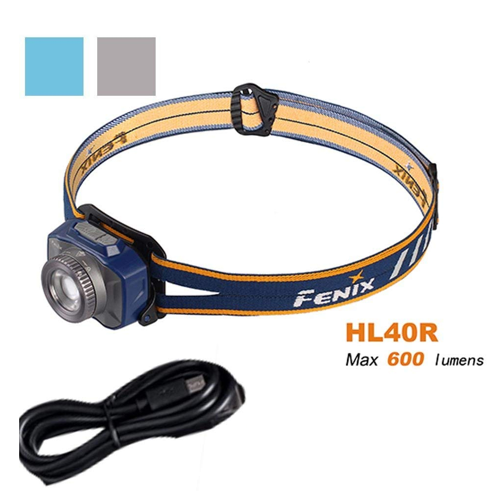 Fenix HL40R USB rechargeable 600 lumen zoom-able adjustable beam distance CREE LED headlamp Built-in 2000mAh Li-polymer battery fenix hp25r 1000 lumen headlamp rechargeable led flashlight