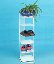 Cheap multilayer simple shoe storage iron gate metal creative mini home after a small hostel