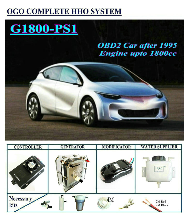 OGO Complete HHO system G1800 PS1 Smart PWM dynamic EFIE chip upto 1800CC