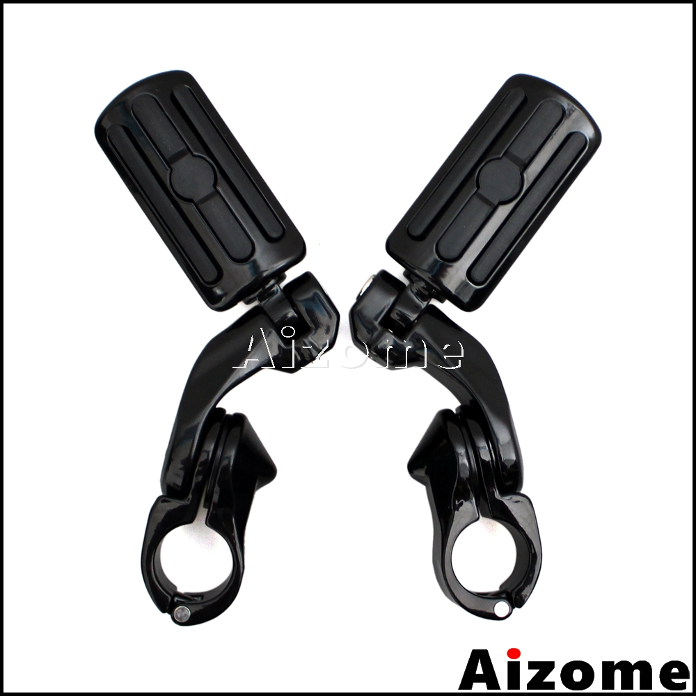 For Harley Touring Sportster Dyna Softail Motorcycle Short Angled 1 1 4 Highway Engine Guard Foot