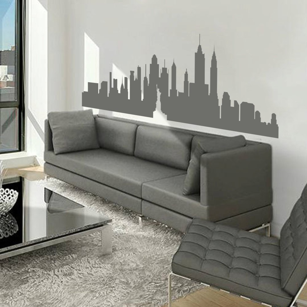 New York City Skyline The Big Apple Wall Sticker NYC Vinyl Wall Decal Art  Kids Room Decoration Wall Graphic Mural 26 Part 38