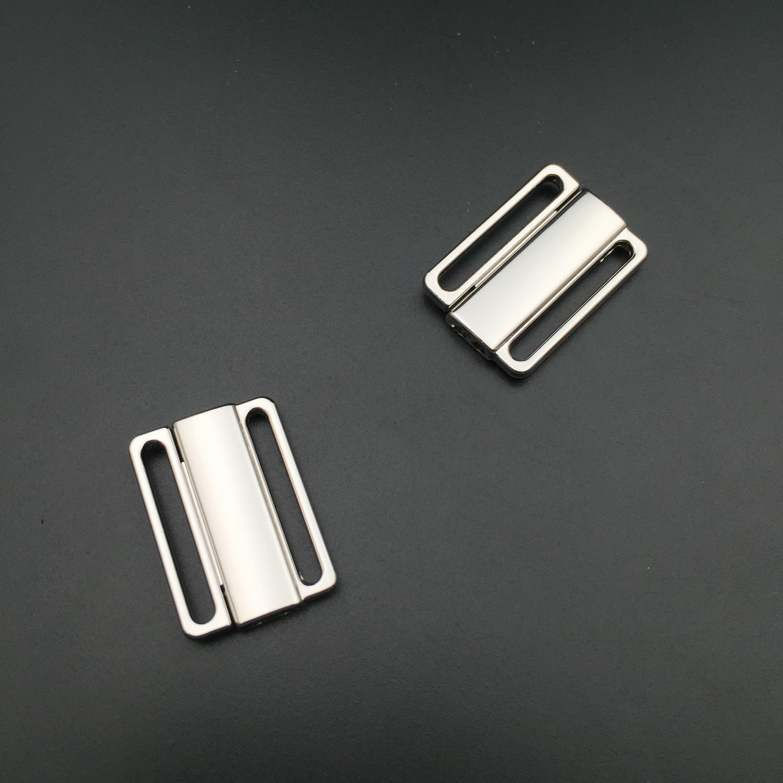 High quality 30sets 20mm Nickel free Bra Clip Swimwear Clickers bra metal front closure