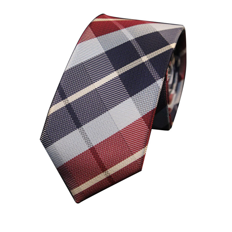 Mantieqingway 6cm Skinny Striped Slipsar för Mans Plaid Printed Neck Tie Bröllop Marriage Smoking Gravatas Slim Corbatas Cravat