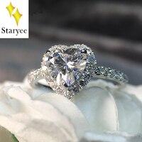 Настоящее 18 К белого золота пара любовников Свадебный Обручение группа Муассанит кулон кольца с природными алмазами сбоку для Для женщин ю