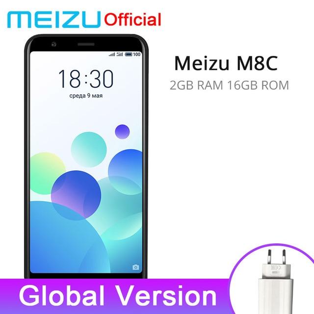 "Global Version Meizu M8C 2GB 16GB Mobile Phone Qualcomm 425 Quad Core 5.45"" 18:9 Full Screen 13.0MP Rear Camera 3070mAh"
