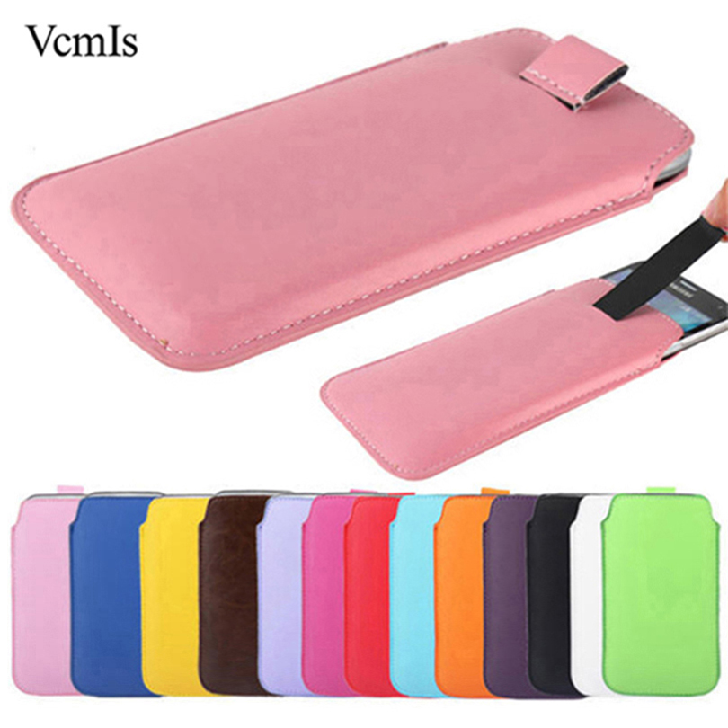 Fashion Leather Pull Tab Sleeve Pouch For Sony Xperia ZR M36H C5502 C5503