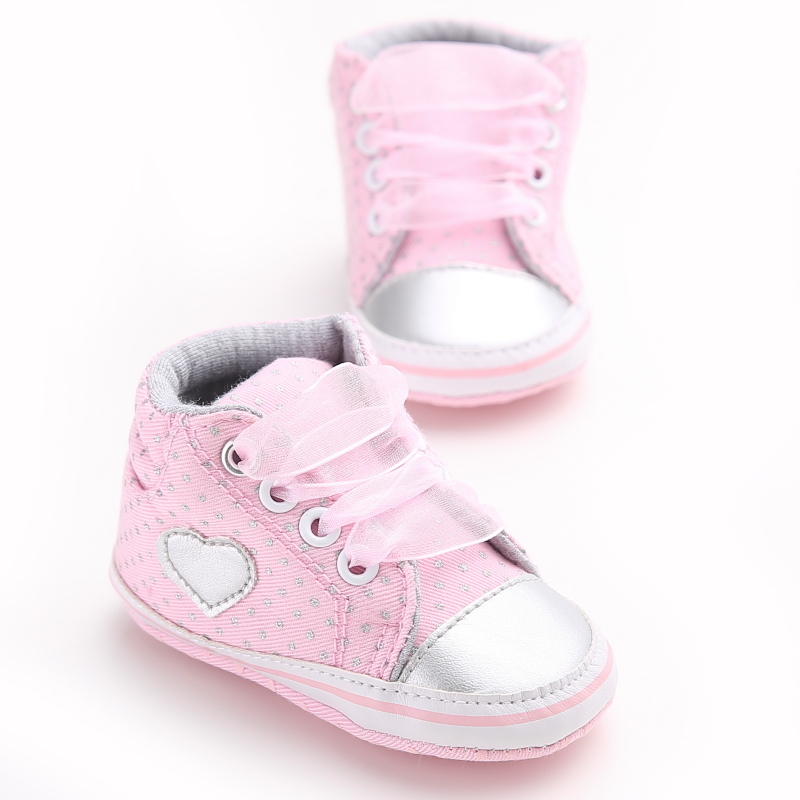 Fashion Dots Baby Girls Shoes Branded Bow Kids Toddler Sneakers Newborn Cotton First Walker Chaussures Girl Bebe Sapatos First Walkers Mother & Kids