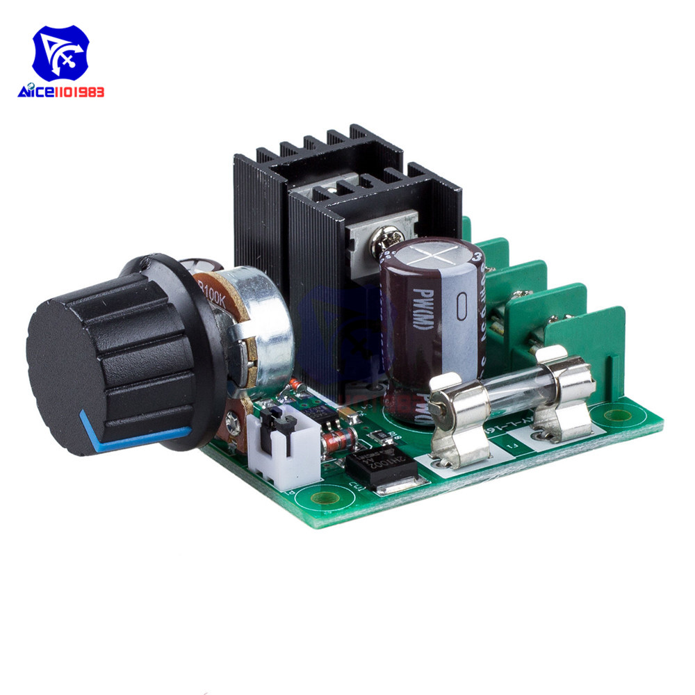 Diymore DC 12 -40V 10A PWM DC Motor Speed Control Switch Controller Module Voltage Regulator Dimmer /w Fuse Rotary Potentiometer