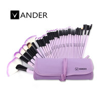 VANDER Purple 32pcs Makeup Brush Set Professional Cosmetic Kits Brushes Foundation Powder Blush Eyeliner Pincel Maquiagem