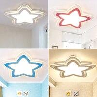 Современные светодиодные потолочные светильники Затемняющая звезда для детской спальни потолочный светильник 3 цвета AC85 265V домашние свети