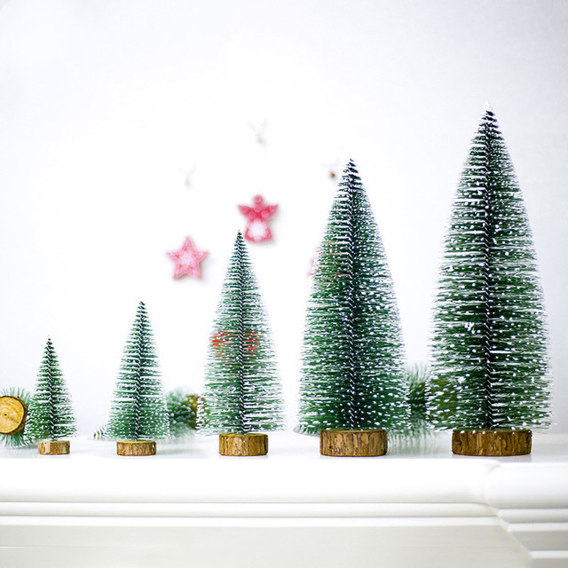 cute mini artificial christmas tree decoration for home placed in the desktop home decor xmas christmas