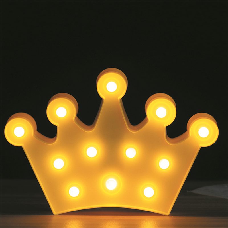 Crown 3D LED Night Light Table Lamp Lovely Christmas Fairy Cartoon Bedroom Decor Kids wall lamp Home Decoration ...