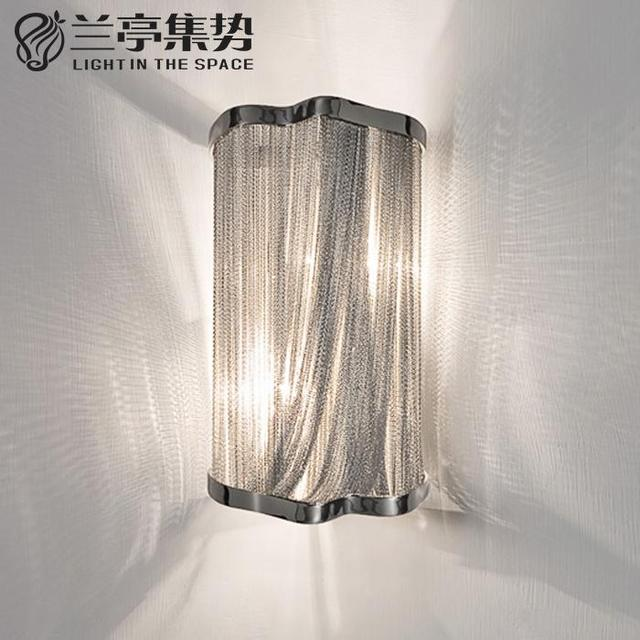Modern Stream Clic Aluminum Chain Wall Lamp Luxury Lights Bedroom Dining Room Hotel Led Lighting Free Shipping