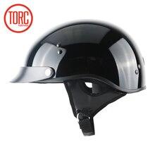 TORC motorcycle helmet classic harley helemet vespa vintage summer half helmet jet retro capacete casque moto helmet DOT T55.02 недорого
