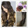 Full Shine Nano Hair Extensions Ombre Color #2 Fading to #8 50g\lot High Quality Straight Brazilian 100 Real Remy Human Hair