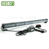 12V 24 LED Car Emergency Traffic Advisor Flash Strobe Light Bar Auto Warning Emergency Lamp Amber for Truck