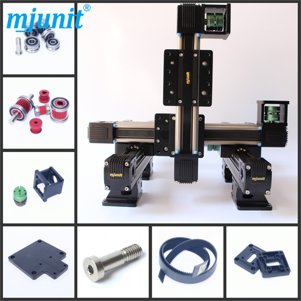 MJUNIT xy postioning axis Linear Motion Shaft Support Series Slide CNC Aluminum Rail high quality scv30uu slide linear bearings aluminum box type cylinder axis scv30 linear motion ball silide units cnc parts high quality