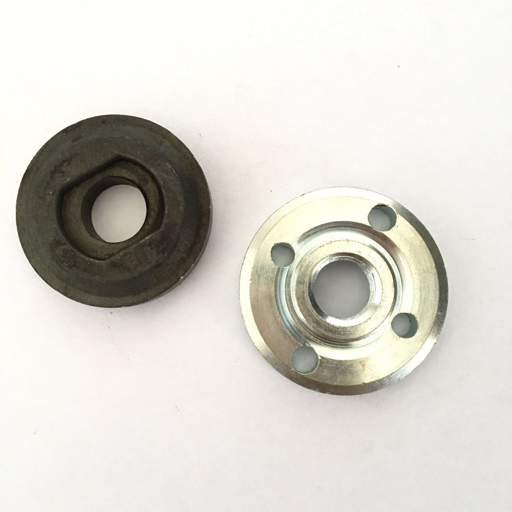 Set Angle Grinder Spare Part Round Clamp Inner Outer Flange For Bosch GWS20-180 125 150