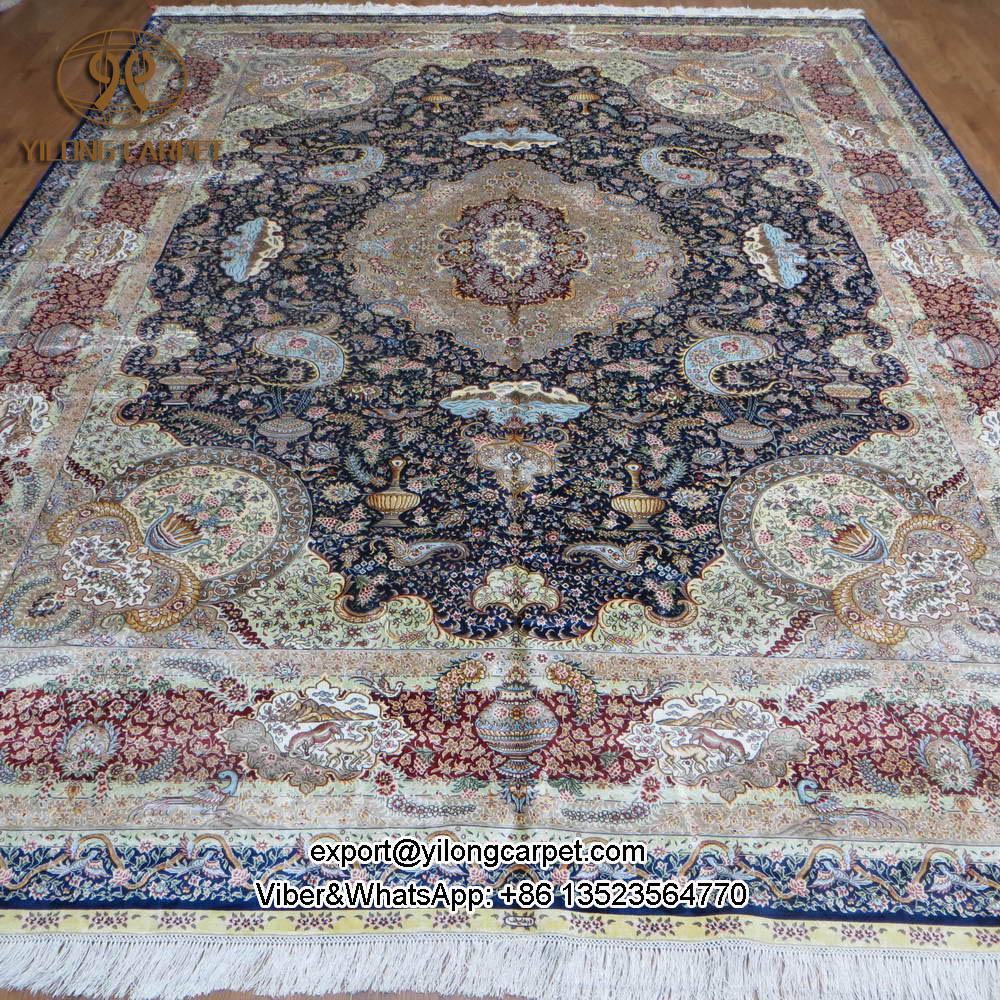 Yilong 9u0027x12u0027 Natural Pure Silk Handmade Home Persian Rugs Handmade Big  Iranian Silk