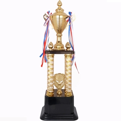 Hot Sale Sports Athletic Prize Award Trophy Cups Golden Plated Metal Cup  Trophy Basketball Trophies Award Medals 70cm Height