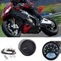 ABS Material Digital 12 V Motocicleta Velocímetro Odômetro Calibre Duplo Retroiluminado medidor de Velocidade Digital Universal com Indicador LED