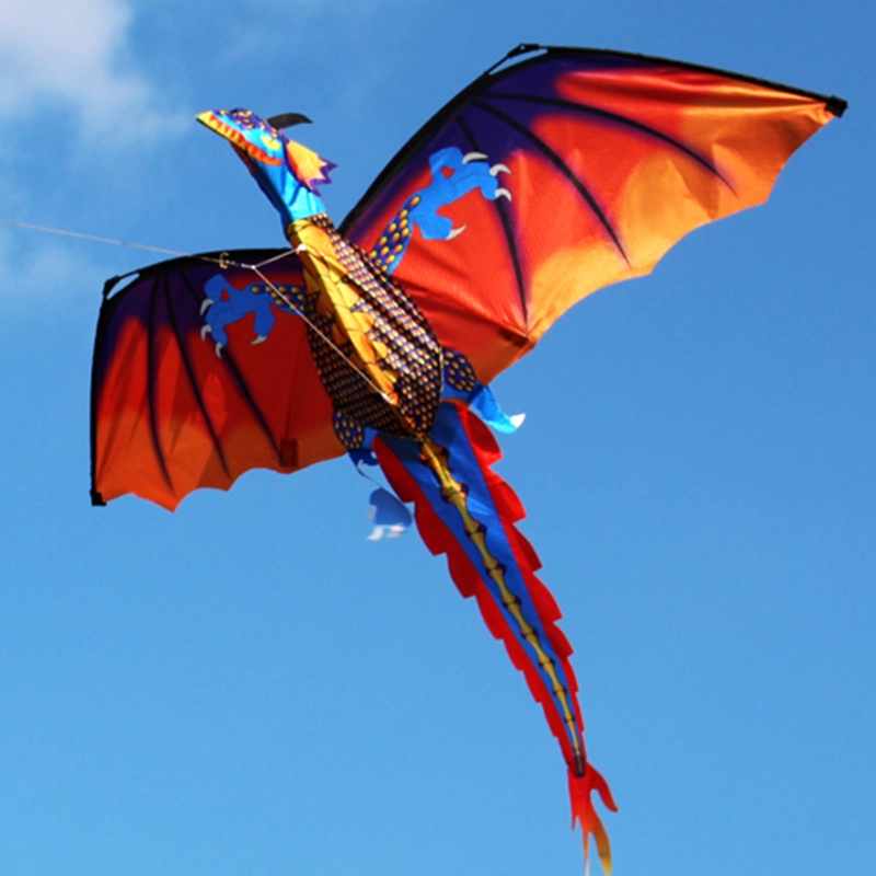 3D Dragon Kite With Tail Kites For Adult Kites Flying Outdoor 100m Kite Line