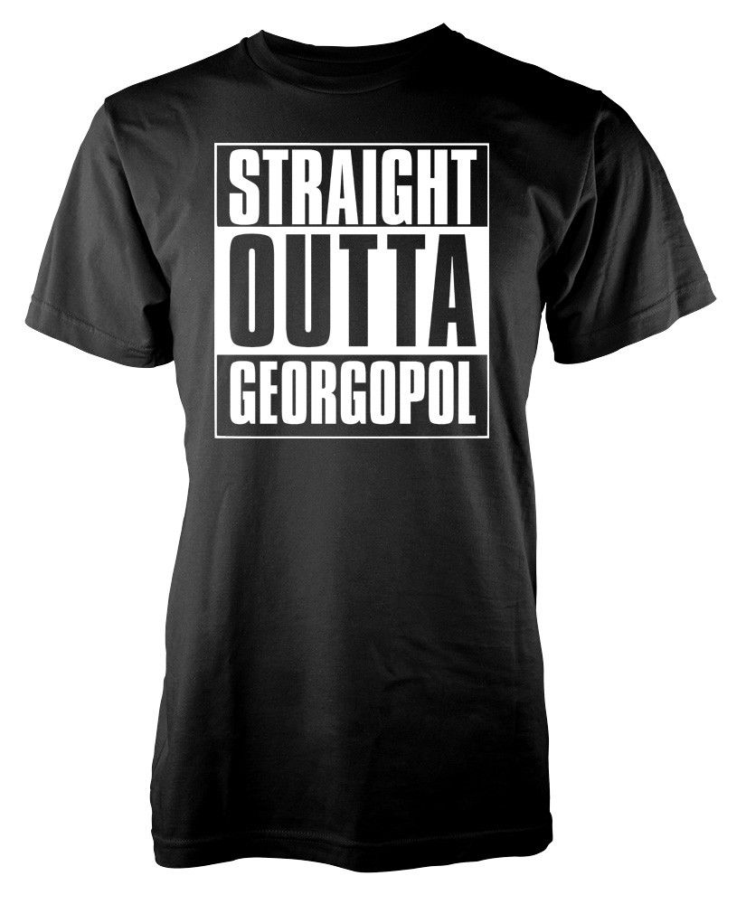 Tops & Tees T-shirts Player Unknown Battleground Straight Outta Georgopol Pubg Adult T-shirt Cool Casual Pride T Shirt Men Unisex New Fashion Tshirt