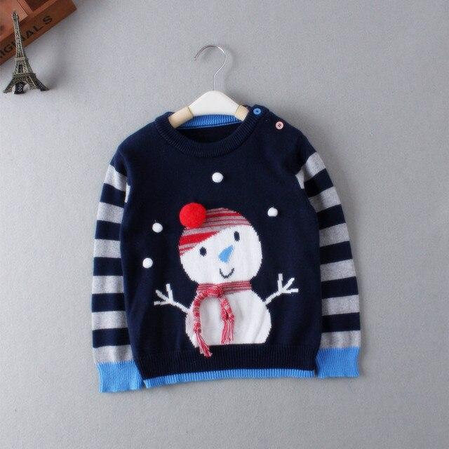 Детские Свитера Рубашки мальчики девочки вязаный свитер Осень зима Пуловеры Рождественский снеговик Свитер фантазии детская одежда