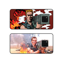 For Huawei Mate 20 Pro Case Schwarzenegger Printed Rocket Glass Cover pro Cartoon Fire Bag