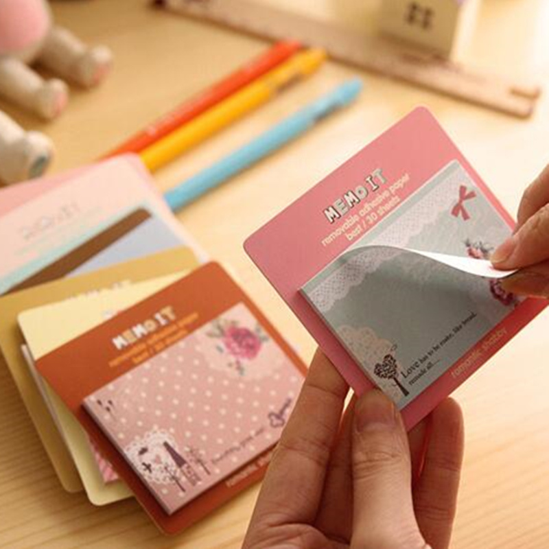 Korean Stationery Kawaii Memo Pad Cute notepad sweet Paper Sticky 2pcs Post Note For Kids Student Gift Office School Supplies
