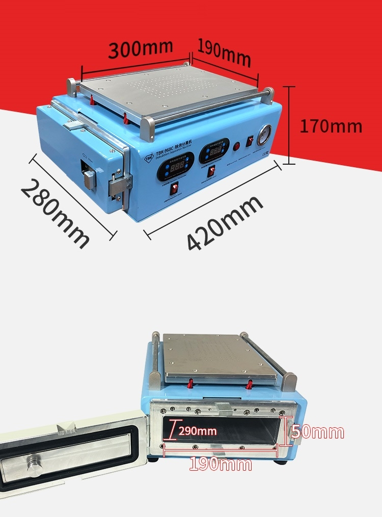 Купить с кэшбэком TBK 12 inch 2 in 1 968C LCD Screen Separator with autoclave OCA debubble machine Built in vacuum pump for mobiles tablets
