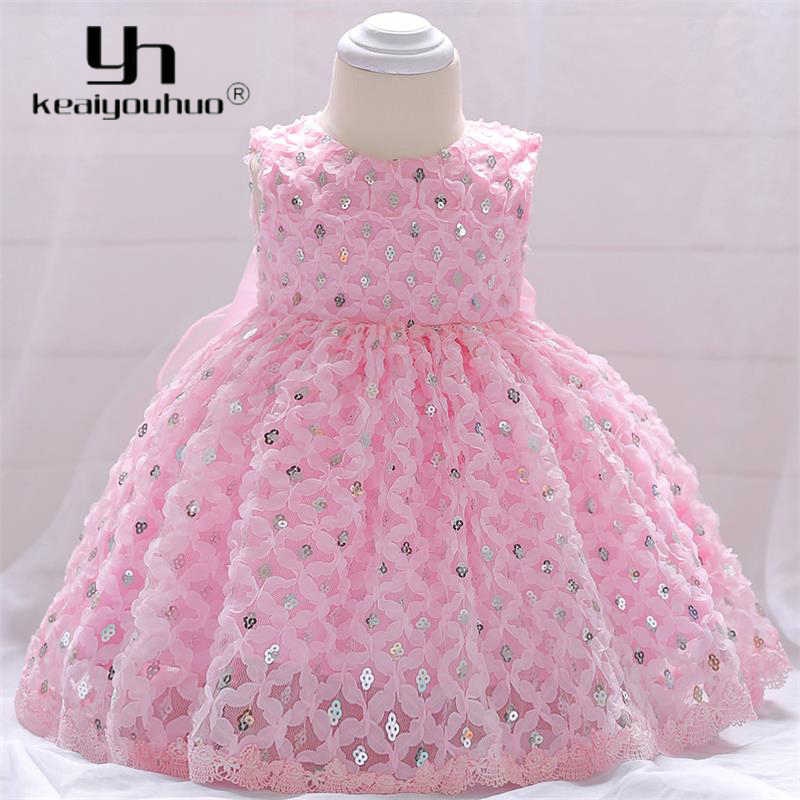 57babe0e682a 2018 Baby Girl Summer Clothes Kids Christening Dresses For Girls 1st  Birthday Party Wedding Princess Dress