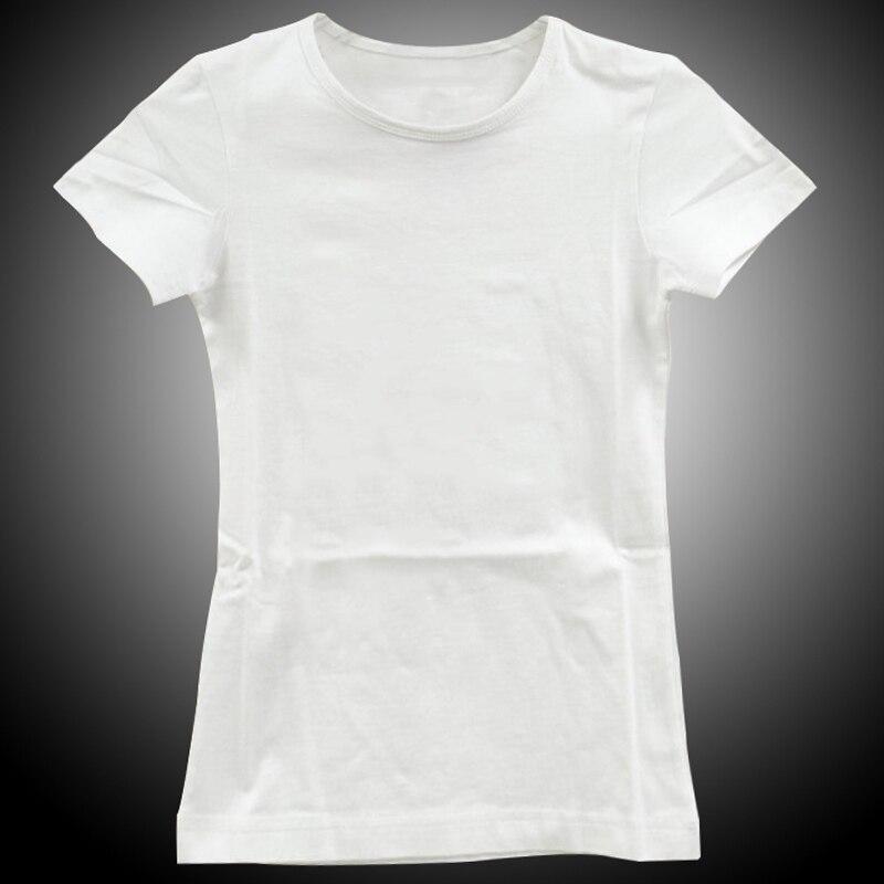 Stylish blank women t shirts short sleeve round neck for Slim fit white t shirt