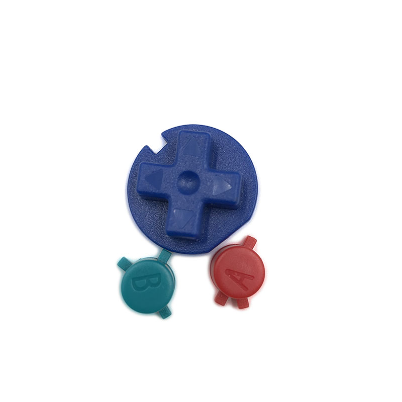 10set a lot Replacement Colorfull Buttons For GBC Game Console  for GBC D Pads A B Buttons