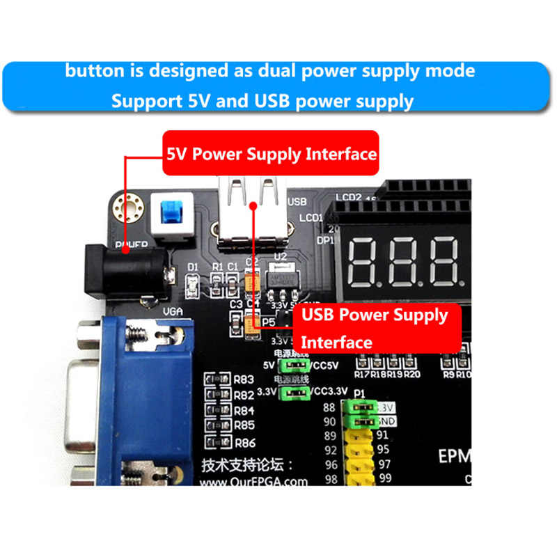 Altera EPM240 Board Multi-Function CPLD Development Board with AD DA  Stepper Motor Interface Receiver+USB Blaster