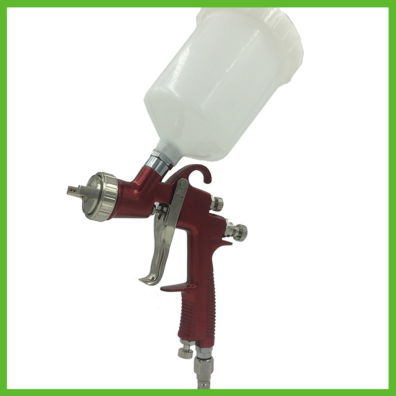 цена на SAT0090 professional airbrush spray gun for car painting hvlp spray gun paint sprayer pneumatic machine air power tools