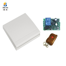 86 Wall Panel Wireless Remote Transmitter AC100V 220V 1 Channel RF Switch For Home Living Room Bedroom Corridor Room Home 433MHz 86 wall panel remote transmitter 1 2 3 button sticky rf tx smart home room hall living room bedroom wirelss remote315 433 ev1527