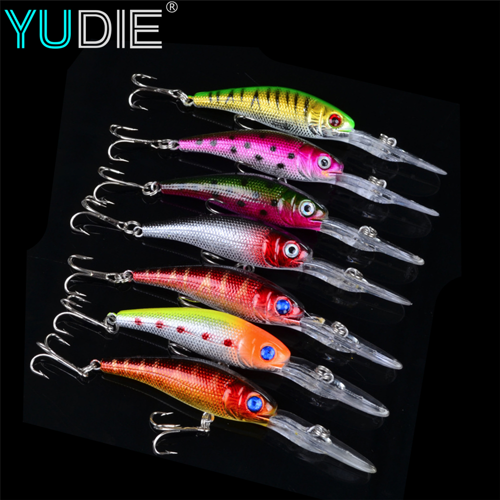 1Pcs Beginner Deep Diving Minnow Lure 10cm 8g 3D eyes For Attract Sea Carp Fly Fishing Baits Tool Wobblers Swim Artificial Fish 1pcs fishing lures lure artificial bait peche tackle wobblers for pike fly 6 hooks 3d eyes fake baits minnow 7cm 8g sea bass