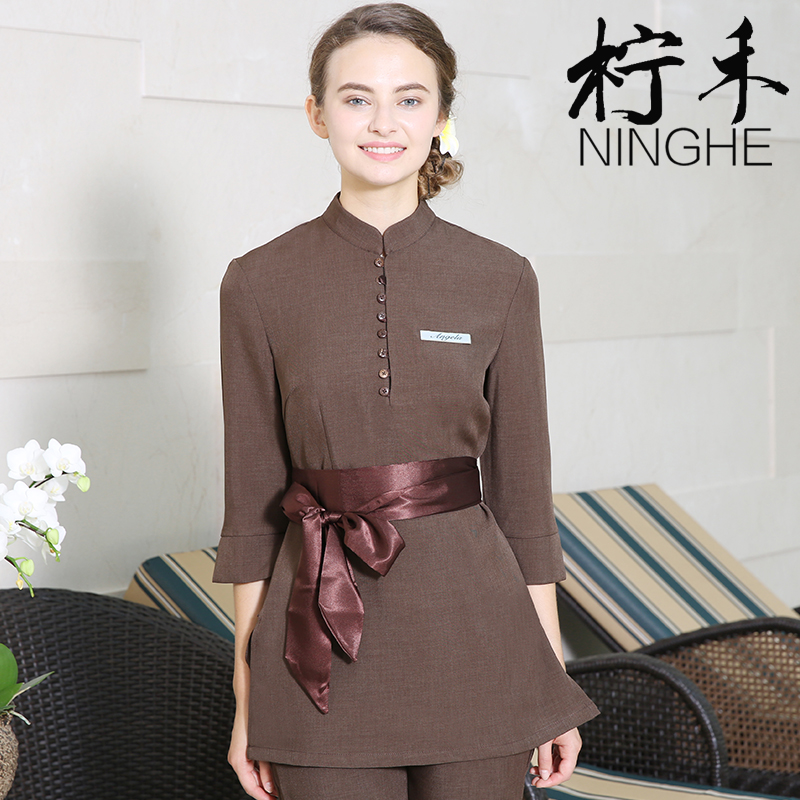 Popular spa uniform buy cheap spa uniform lots from china for Spa uniform female