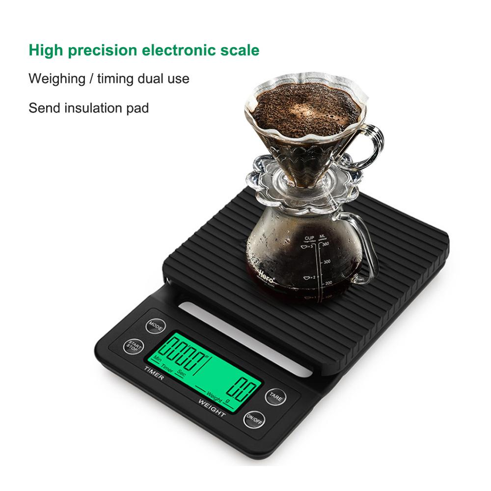 yieryi 3kg/0.1g 5kg/0.5g Drip Coffee Scale With Timer Portable Electronic Digital Kitchen Scale High Precision Electronic Scalesyieryi 3kg/0.1g 5kg/0.5g Drip Coffee Scale With Timer Portable Electronic Digital Kitchen Scale High Precision Electronic Scales