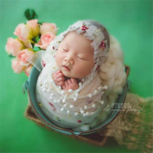 Lace Wrap with Hat set Newborn Photography Props Baby Photo