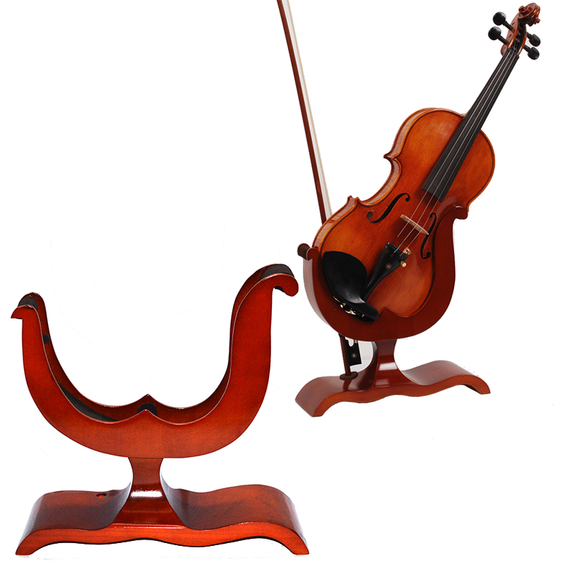 Professional Solid Wood Violin Stand Support Display,violin Frame,violin Shelf,for 1/8 1/4 1/2 3/4 4/4violin
