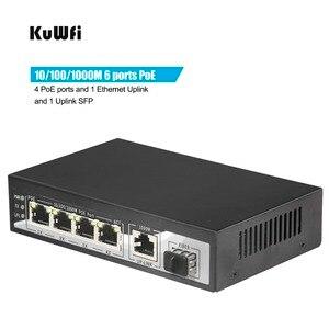 Image 2 - Port optique PoE, 4 10/100 /1000 mb/s, 1 Ethernet Gigabit, SFP, Uplink, commutateur optique PoE, 65W